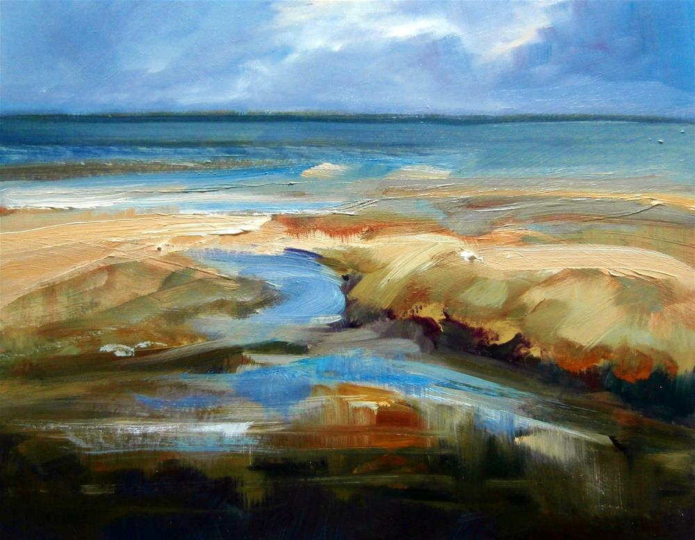 """Sandy Marsh"" original fine art by Anne Wood"