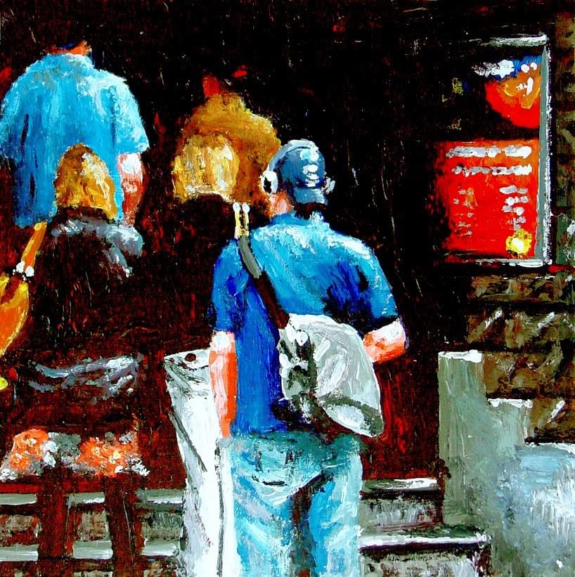 """Tuschinski- People Waiting In Line At Movie Theater Tuschinski Amsterdam"" original fine art by Gerard Boersma"
