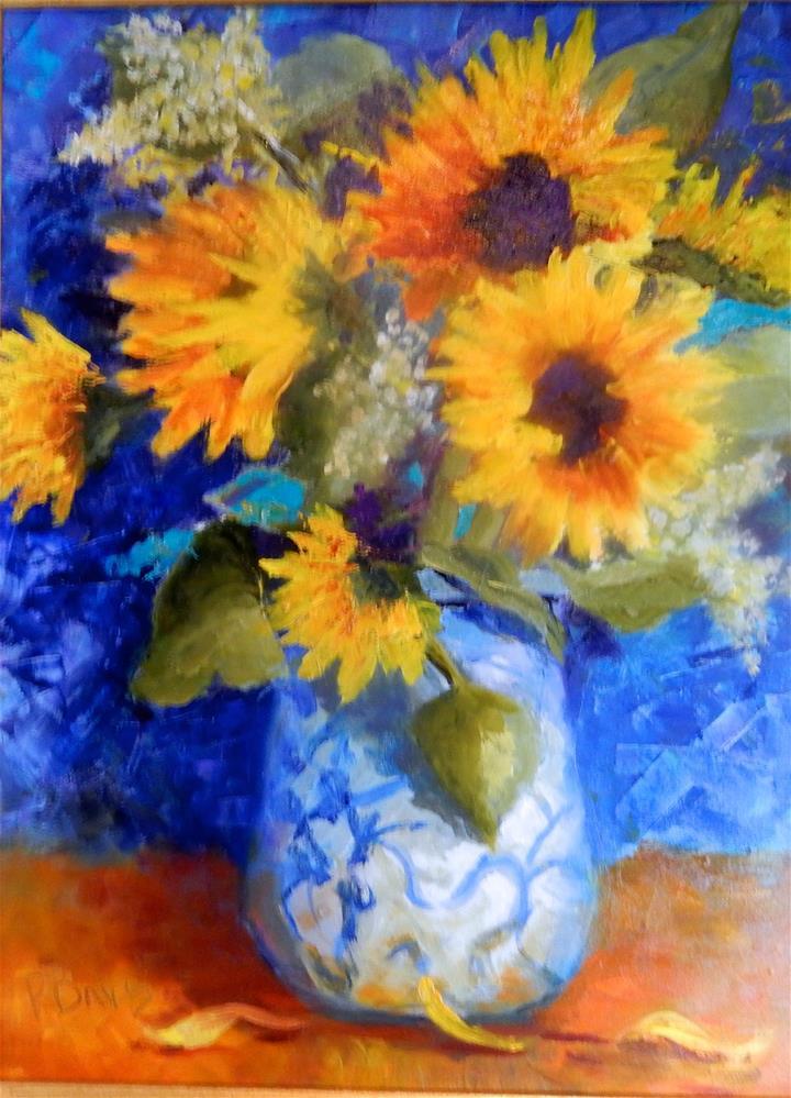 """""""A Gift from Julie"""" original fine art by Phyllis Davis"""