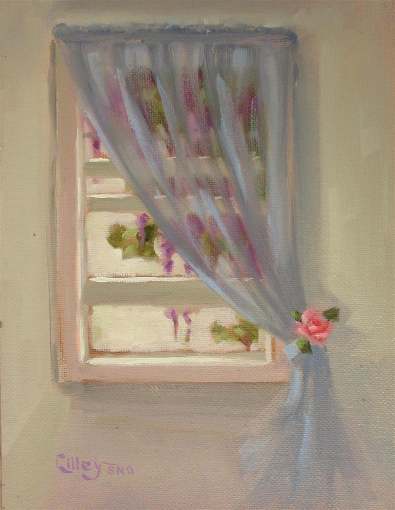 """Wisteria Mysteria"" original fine art by Maresa Lilley"