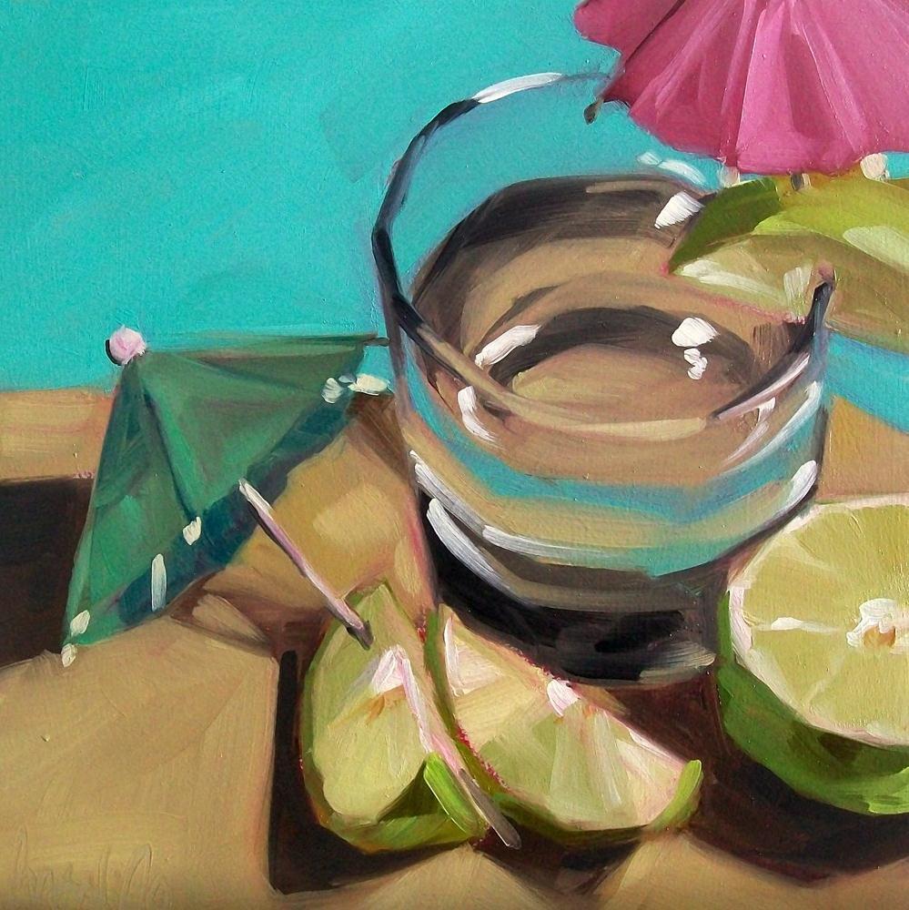 """Boat drinks"" original fine art by Brandi Bowman"