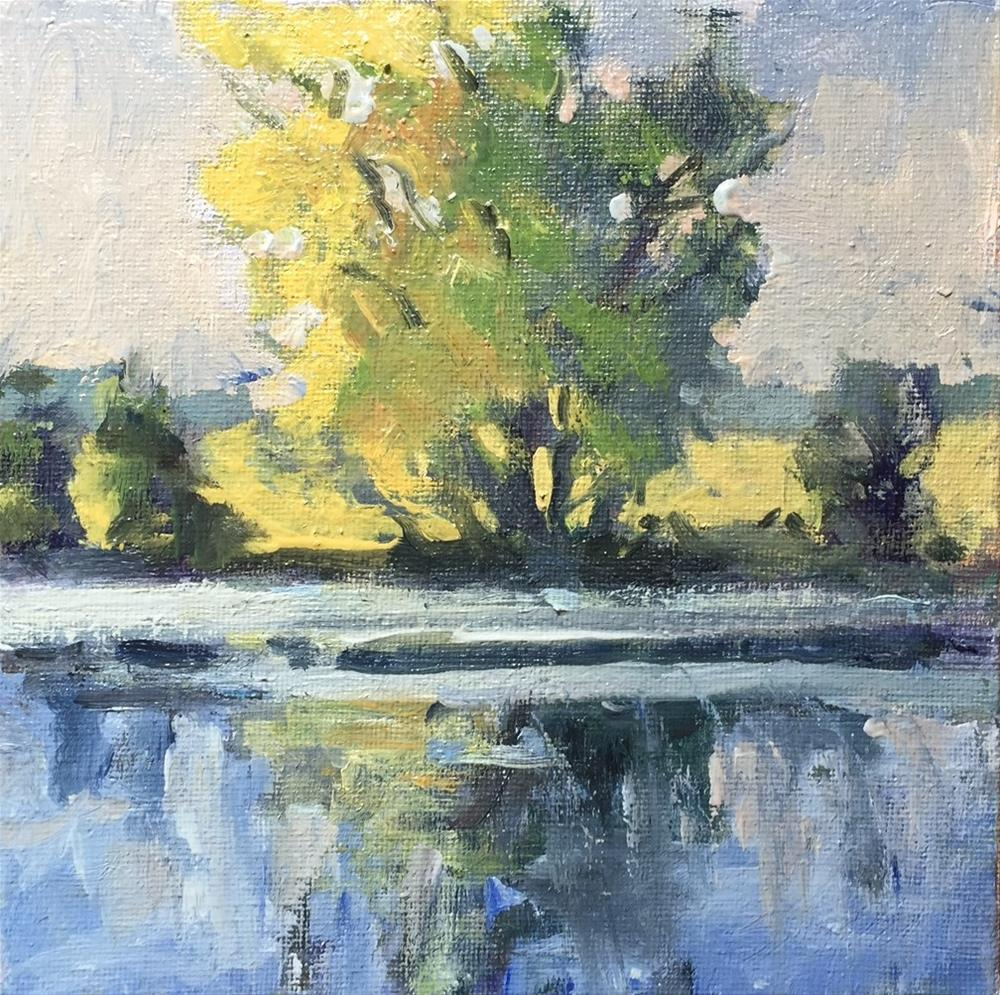 """The Little Pond, Pearson Farm"" original fine art by Connie Snipes"