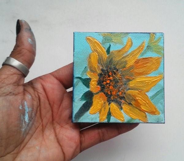 """Sunflower"" original fine art by Camille Morgan"