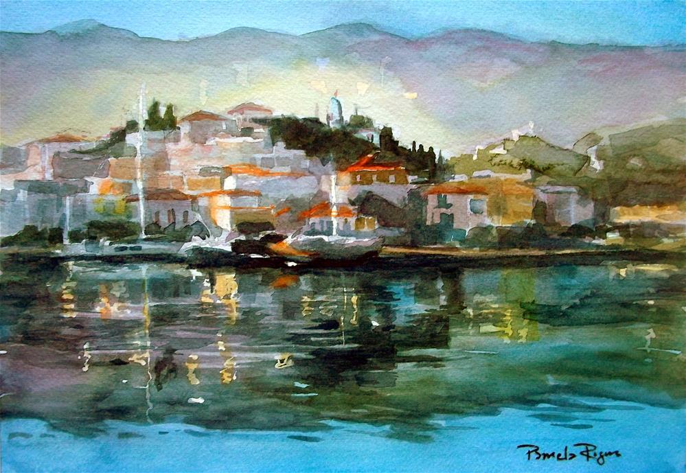 """Serene Poros"" original fine art by Pamela Jane Rogers"