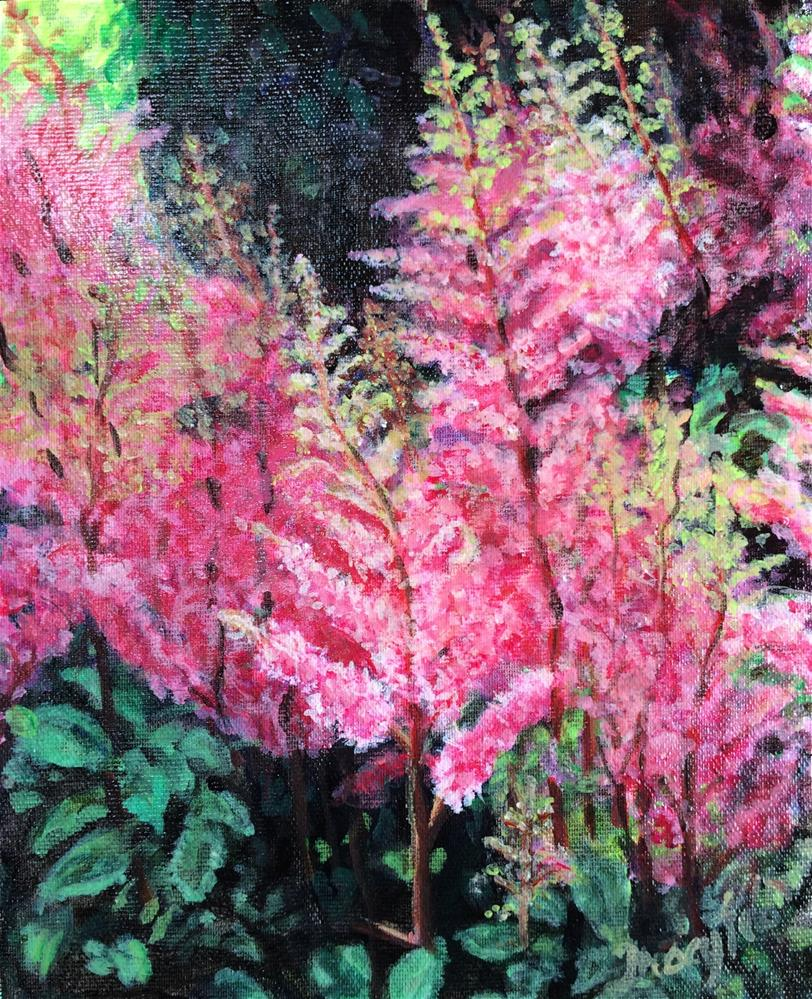 """Glass House Astilbe -- Longwood Gardens"" original fine art by Tracy Feldman"