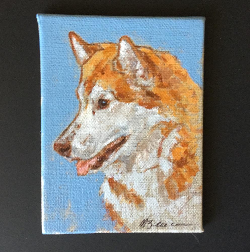"""Siberian Husky"" original fine art by Mary Beacon"
