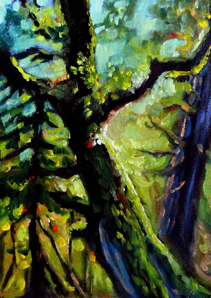 """Old Mossy Oak"" original fine art by Cietha Wilson"