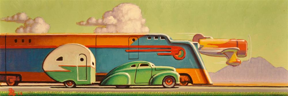 """Travelers"" original fine art by Robert LaDuke"