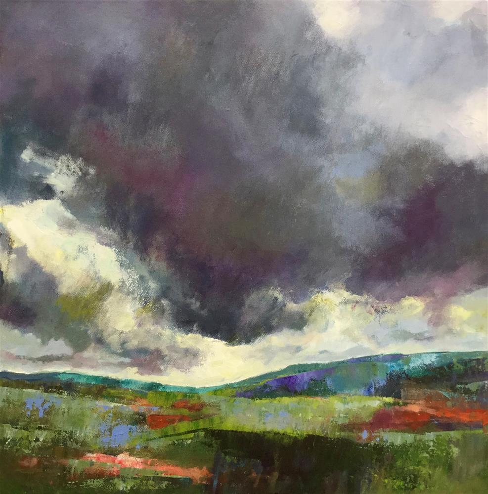 """Des Nuages Orageux (Storm Clouds)"" original fine art by Patricia MacDonald"