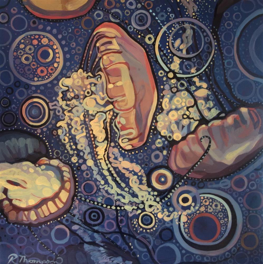 """Jellies"" original fine art by Rachel Thompson"