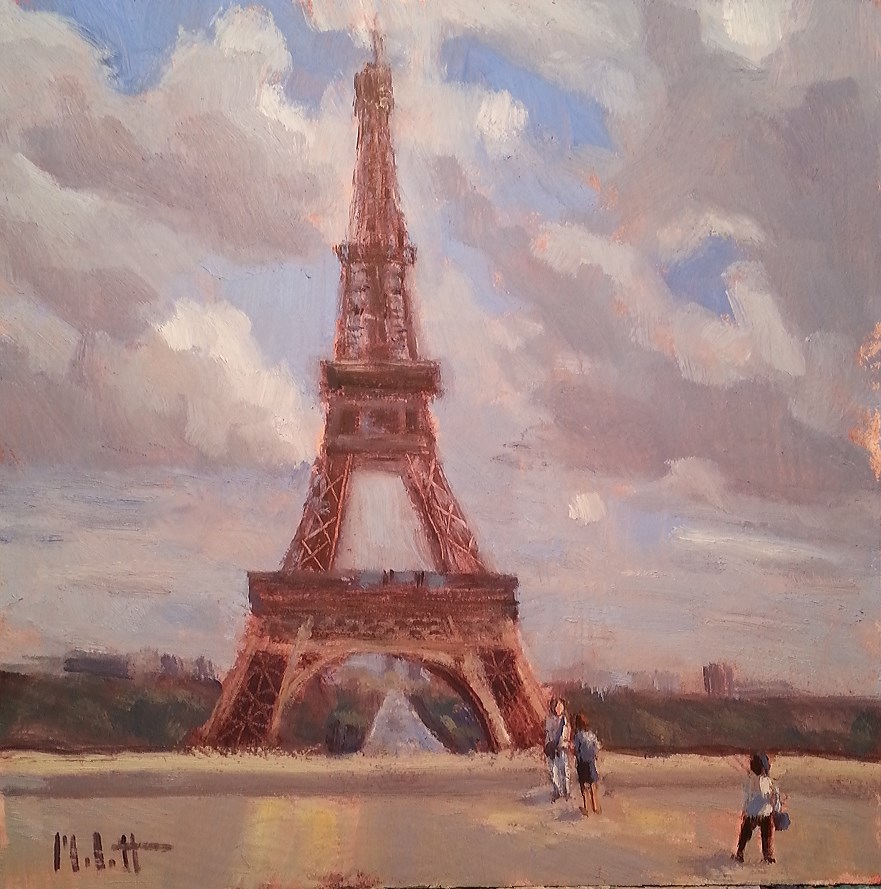 """Eiffel Tower Original Oil Painting Impressionism"" original fine art by Heidi Malott"