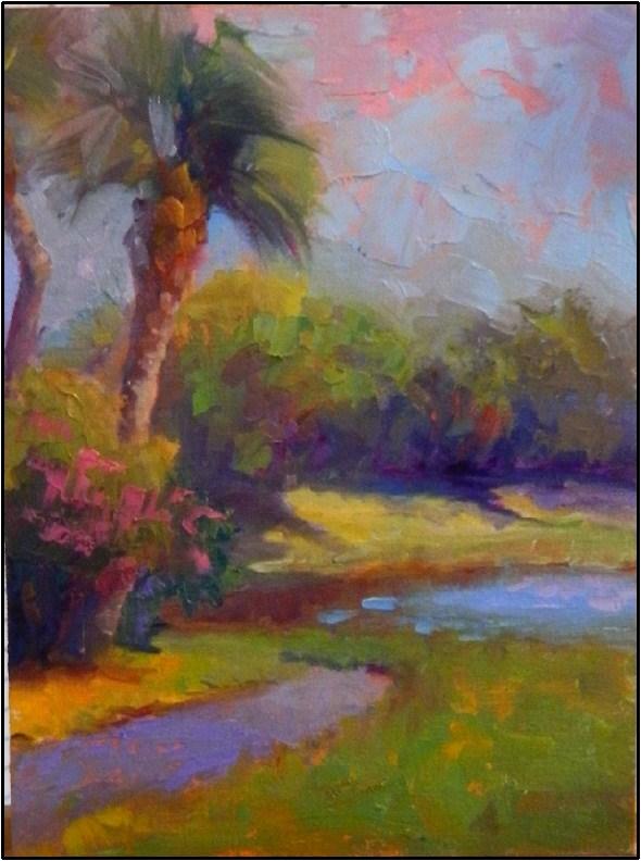 """""""A Familiar Path"""", plein air, 9x12, oil original fine art by Maryanne Jacobsen"""