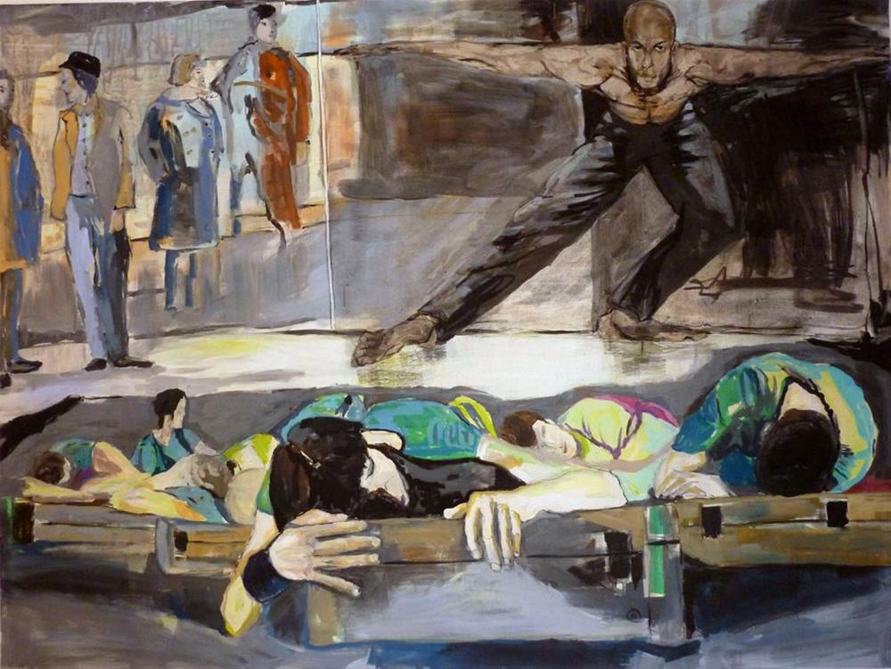"""Solotänzer / solo dancer"" original fine art by Mila Plaickner"