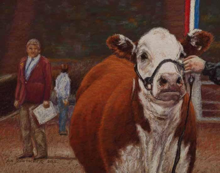 """""""Heifer Class"""" original fine art by Sue Deutscher"""