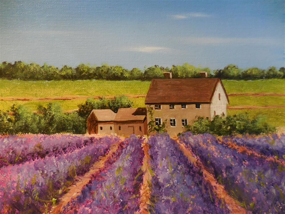 """Lavender Field"" original fine art by Terri Nicholson"