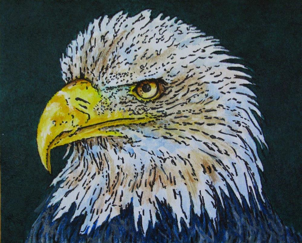 """Bald Eagle"" original fine art by Nan Johnson"