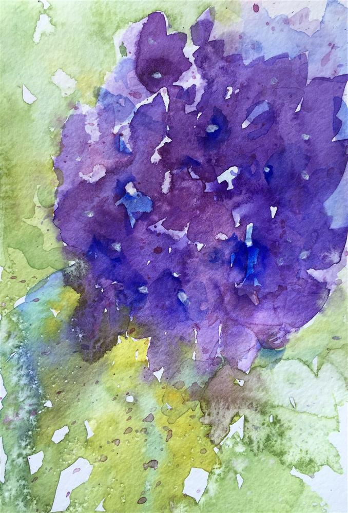 """Hydrangea"" original fine art by Natasha Ramras"