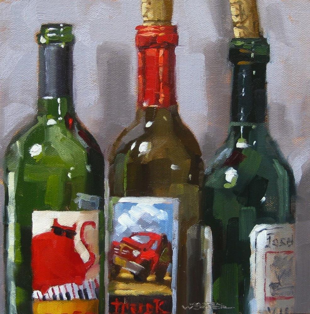 """""""Bottles & Corks"""" original fine art by Karen Werner"""