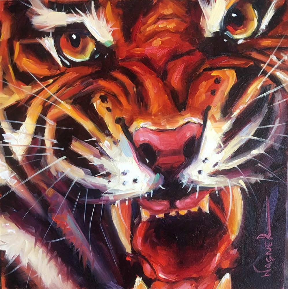 """Hunter"" original fine art by Olga Wagner"