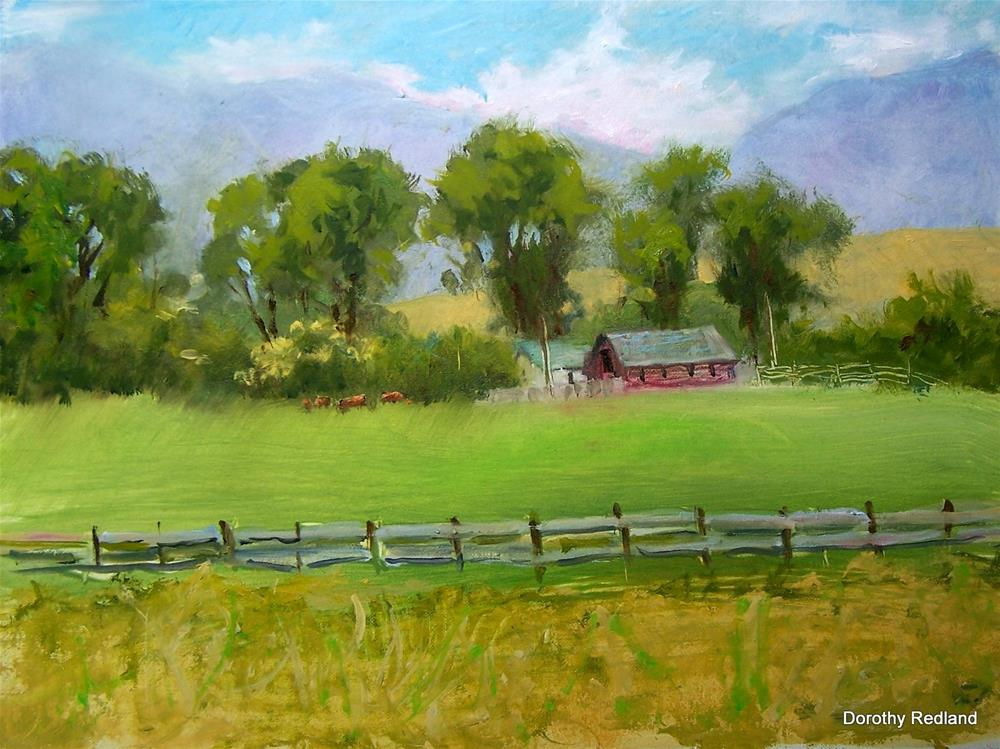 """Big Horn Ranch"" original fine art by Dorothy Redland"