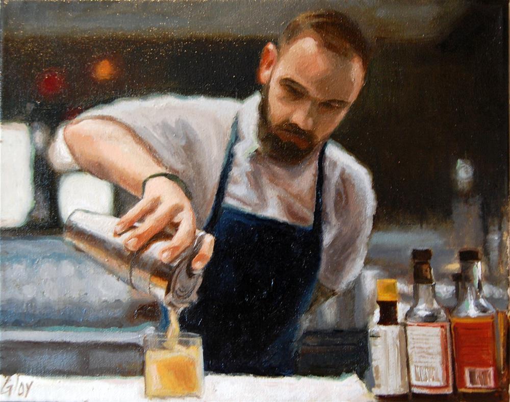 """""""Pour"""" original fine art by jeff gloy"""