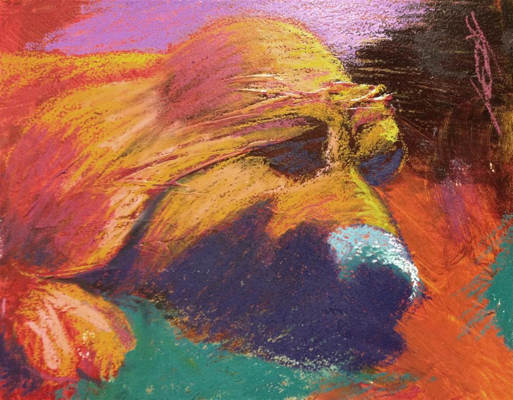 """Dog Cookie Dreams. Disturb Me Not."" original fine art by Jeff Leedy"