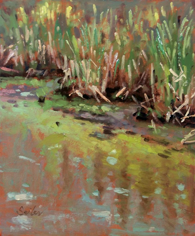 """Late Spring Reedbeds"" original fine art by Larry Seiler"