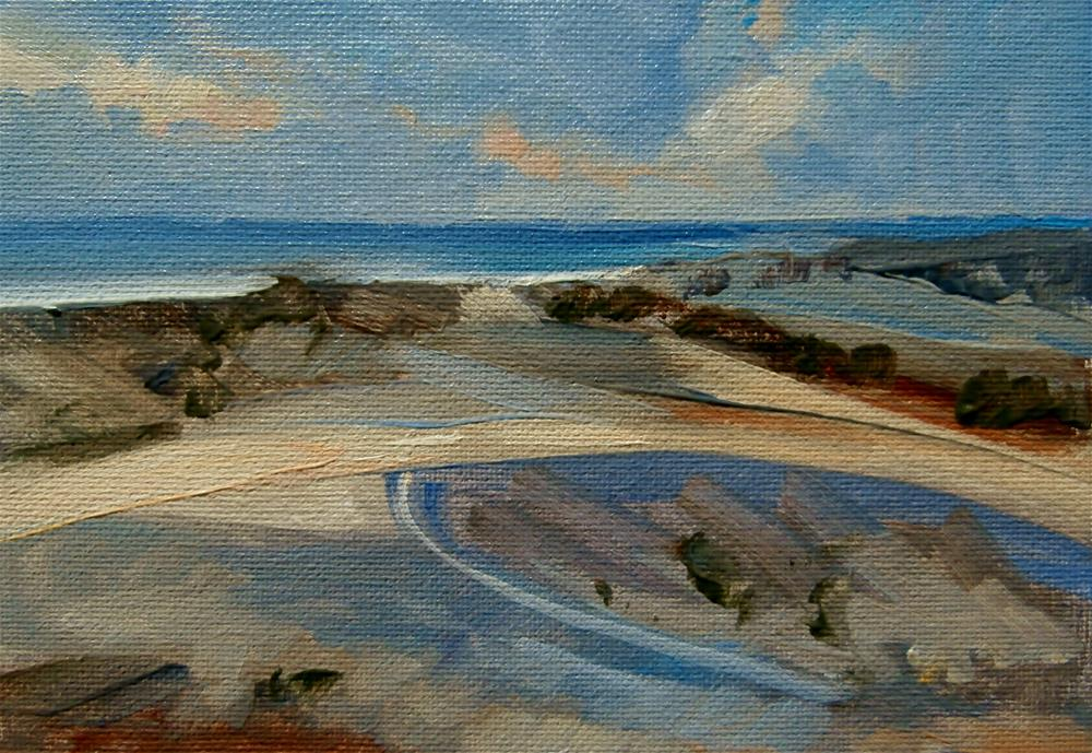 """Shifting Dunes"" original fine art by Anne Wood"