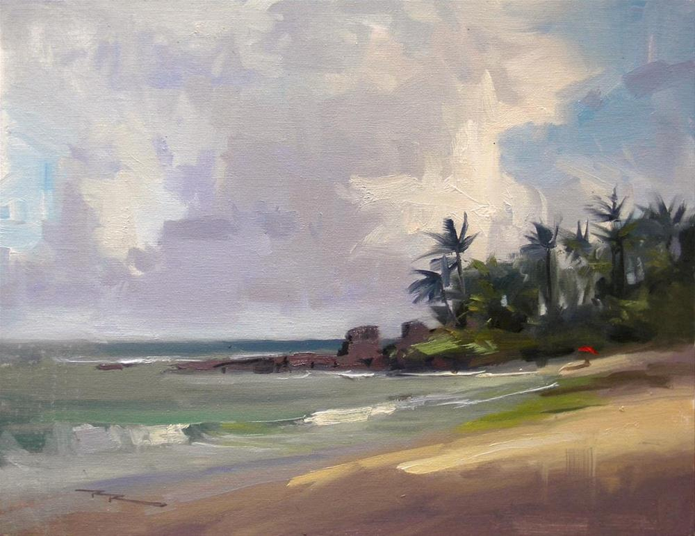 """Clouds over Laniakea"" original fine art by Richard Robinson"