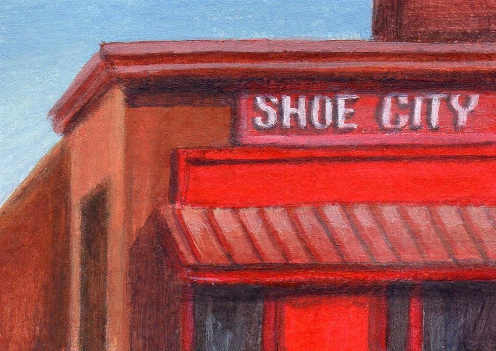 """""""Shoe City"""" original fine art by Debbie Shirley"""
