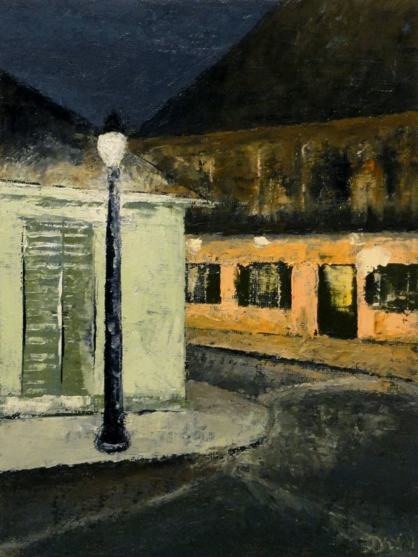 """French Quarter, Warm And Cool Lights"" original fine art by Dalan Wells"