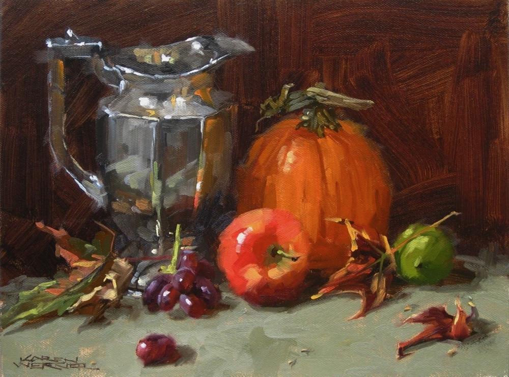"""Fall Still Life"" original fine art by Karen Werner"
