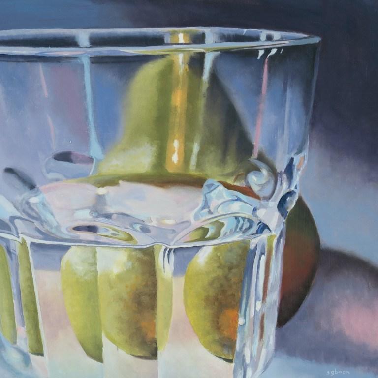 """Purple Pear"" original fine art by Sally Baca"
