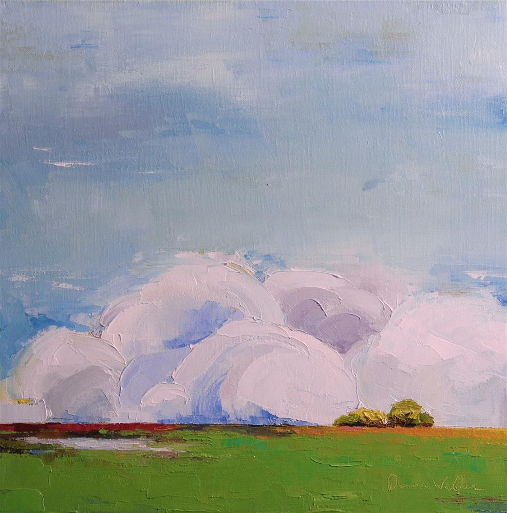"""Monumental Clouds V"" original fine art by Donna Walker"