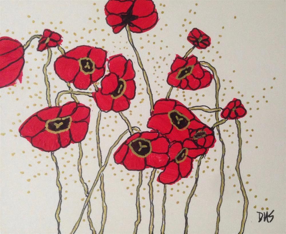 """""""Poppy Imposters"""" original fine art by Dotty Seiter"""