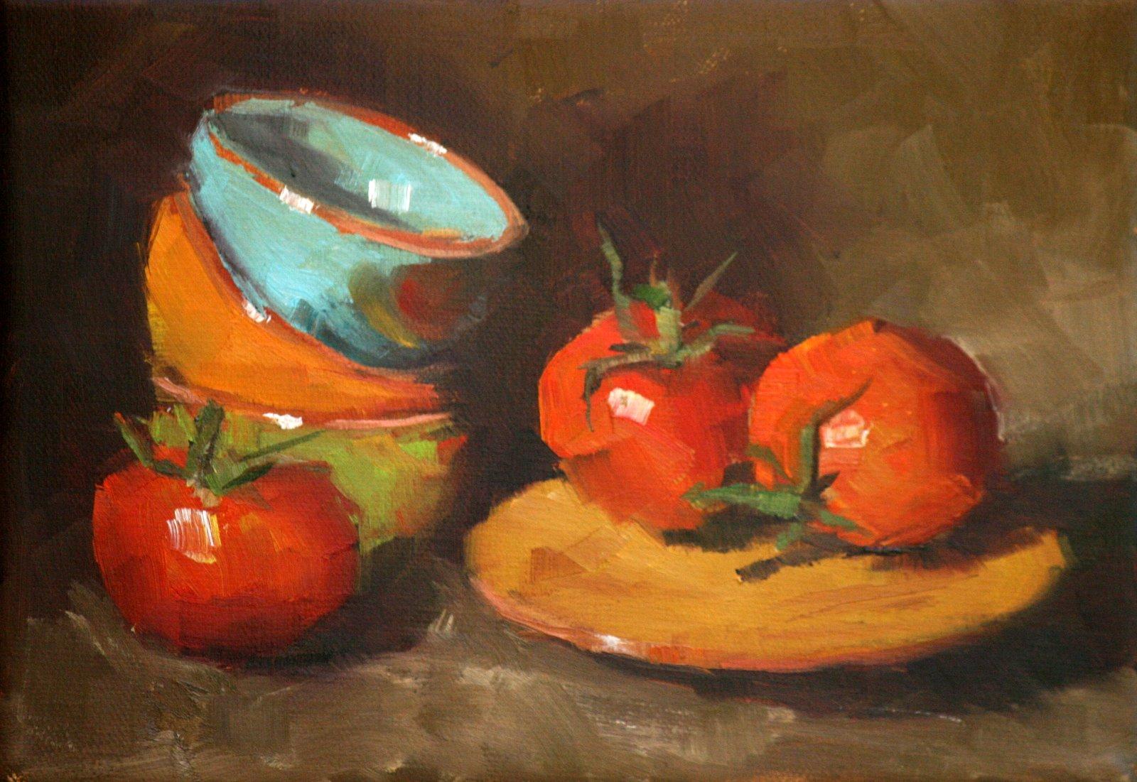 """tomato fiesta"" original fine art by Carol Carmichael"