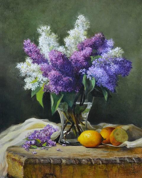 """Lilacs and Lemons"" original fine art by Susan N Jarvis"