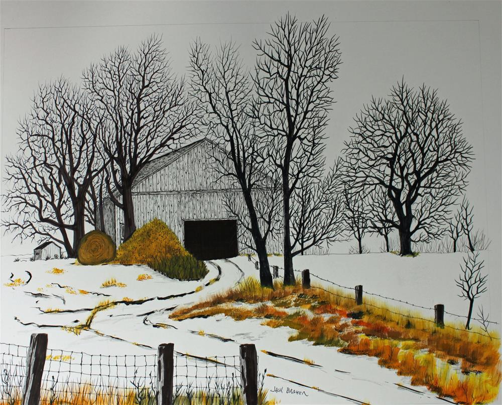 """Early Snow"" original fine art by Jack Brauer"