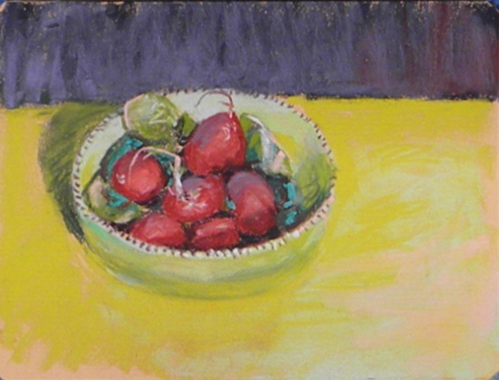 """Bowl of Radish"" original fine art by Toby Reid"