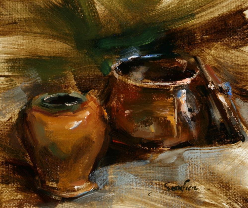 """Copper and Vase"" original fine art by Scott Serafica"