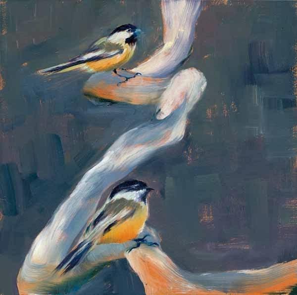 """Two Chick"" original fine art by Brenda Ferguson"