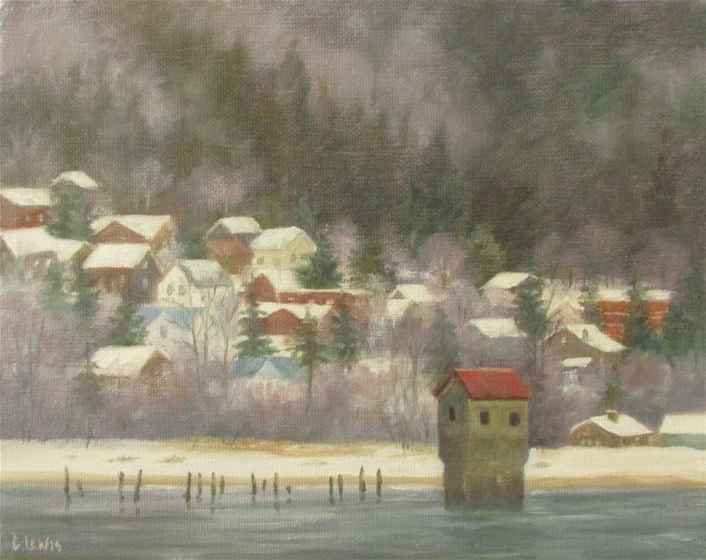 """Tredwell Pump House"" original fine art by Christine Lewis"