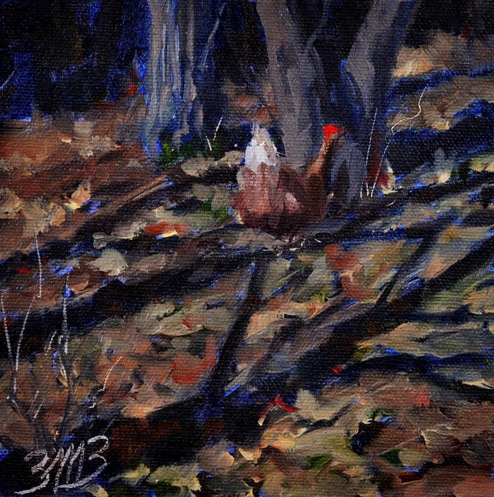 """Among the Leaves"" original fine art by Brienne M Brown"