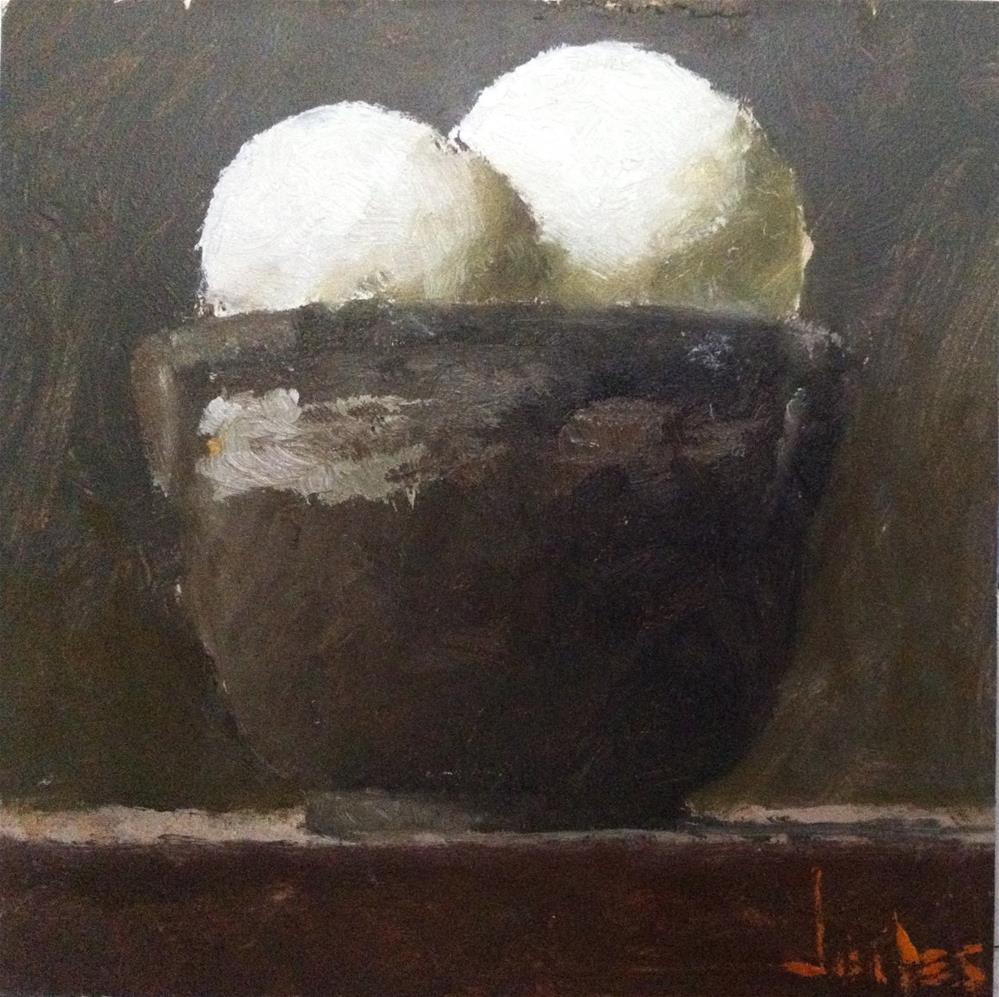 """Still Life with Eggs"" original fine art by Richard Jones"