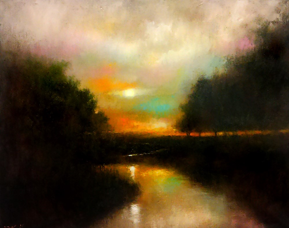 """Sunset at the Wetlands"" original fine art by Bob Kimball"