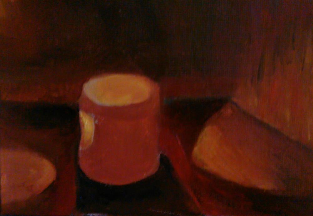 """""""Candlelight"""" original fine art by Gerri Obrecht"""