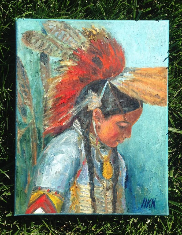 """Humble one"" original fine art by Nina K. Nuanes"