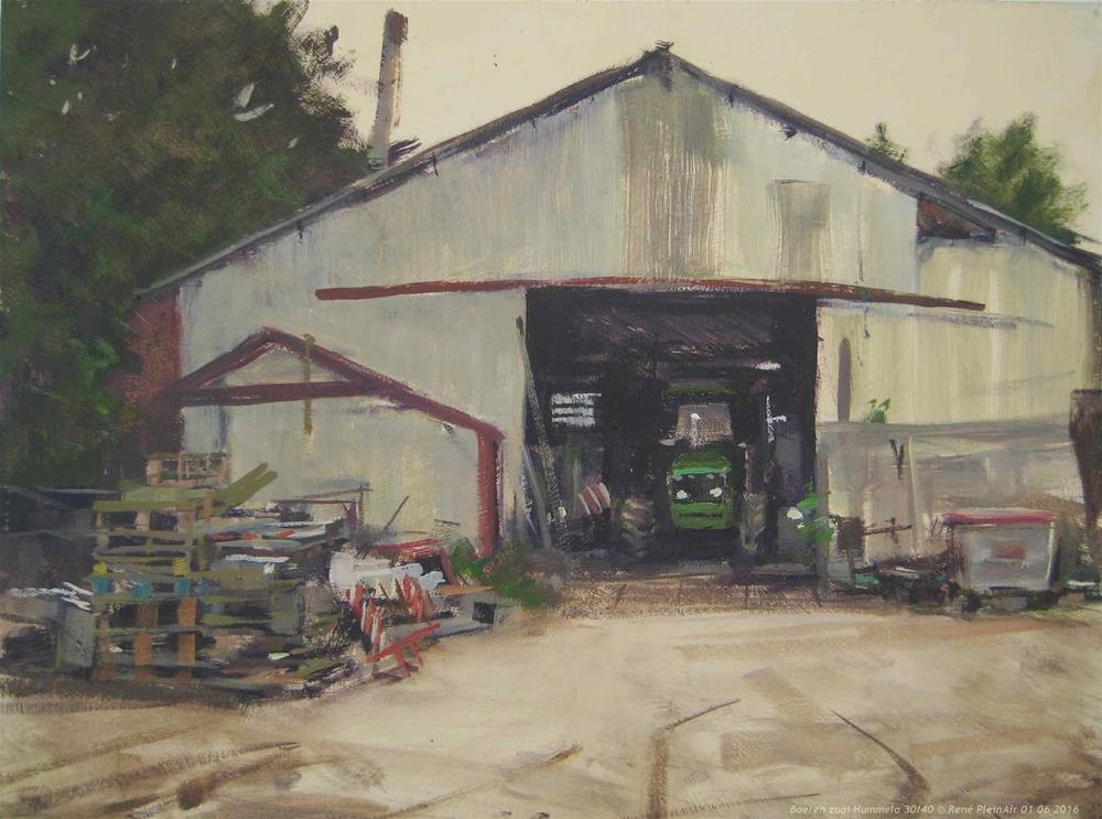 """Farmers clutter. Hummelo, The Netherlands"" original fine art by René PleinAir"