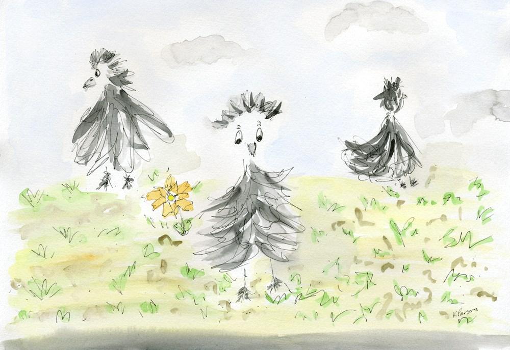 """Fuzzy Flitting"" original fine art by Kali Parsons"