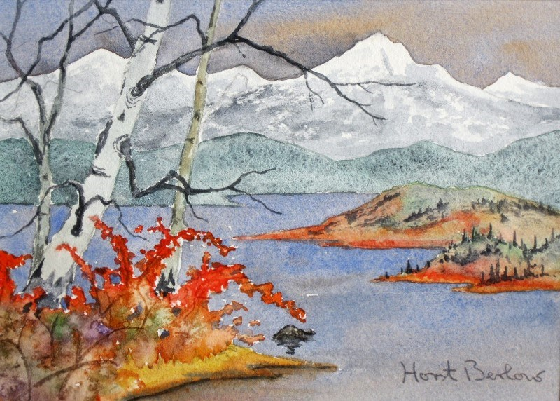 """Buckbrush and Aspen"" original fine art by Horst Berlow"